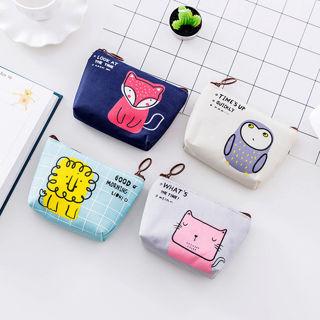 New Casual Small Canvas Purse Zip Wallet Coin Case Bag Handbag Key Holder Wallet