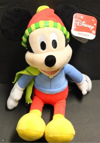 New Mickey Mouse plush Winter 9""