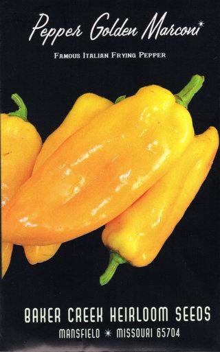 Marconi Golden Pepper Seeds