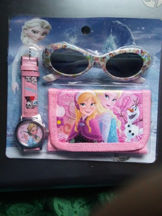 3 new frozen watch,wallet & sunglasses