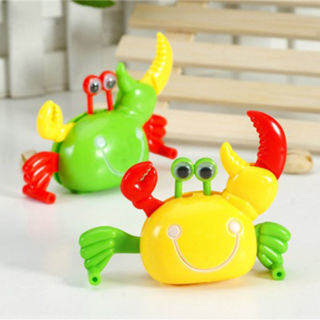 Cute Plastic Crab Shape Clockwork Toy Wind Up Toy For Children Kid Color Random