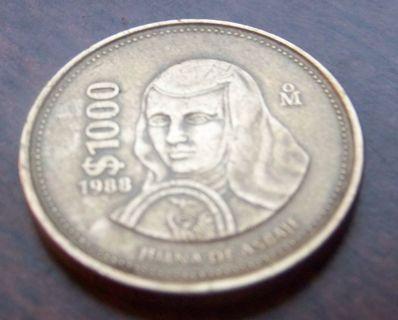 Free 2 Mexican Coins 1000 Pesos 1988 Amp 500 Pesos 1987