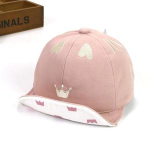 ideacherry Cute Heart Crown Baby Girl Hats Cotton Baby Accessories Newborn Toddler Baseball Cap Ad
