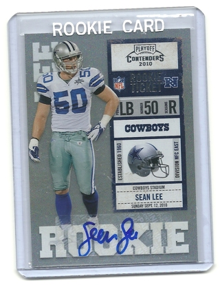 official photos c2b43 f1e7a Free: SEAN LEE CONTENDERS AUTOGRAPHED ROOKIE CARD DALLAS ...