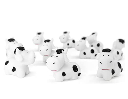 10 pcs Mini Animals Cows Figurines, Fairy Miniature Garden Terrarium