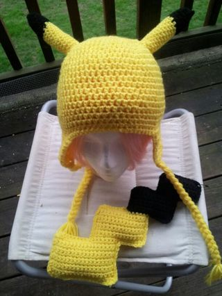 Free Pokemon Pikachu Hat And Tail Cute For Cosplay Crochet