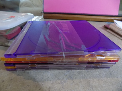 6 jewel cases for CD's or DVD's