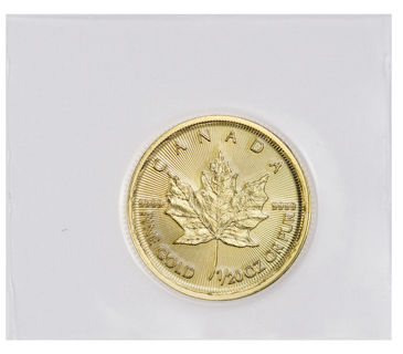2019 Canada 1/20 oz Gold Maple Leaf $1 Coin GEM BU Mint Sealed