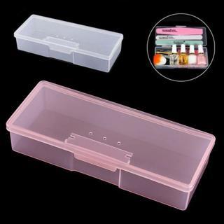 Plastic Rectangle Small Empty Box Nail Art Home Tools Brush Pen Storage Case