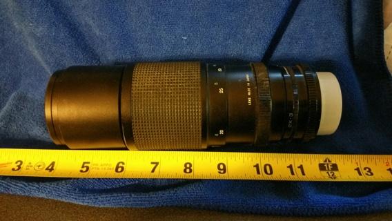 Vivitar Automatic Tele Converter Lens B W 58ES KR1.5 1.1 Focal Length: 300mm Aperture: 1:5.6