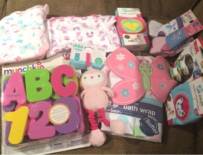 10 piece baby Girl Auction