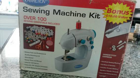 Perfection Sewing Machine Kit Sewing Essentials Included - new in box