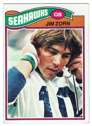 Jim Zorn 1977 Topps Seattle Seahawks