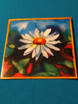 Large Floral Card