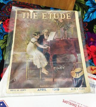 1919 THE ETUDE Magazine, APRIL 1919, SECRETS OF SUCCESS OF GREAT MUSICIANS