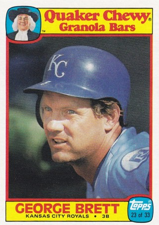George Brett 2 Baseball Card Lot