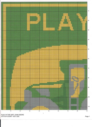 Free John Deere Play In The Dirt Crochet Or Stamp Quilt Pattern