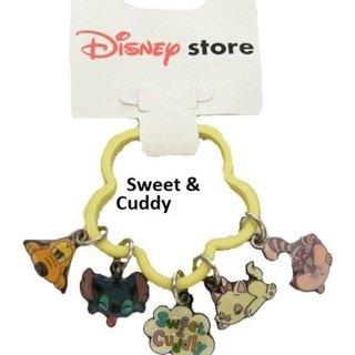 Disney Sweet Cuddly Pluto Stitch Marie Keychain NWT