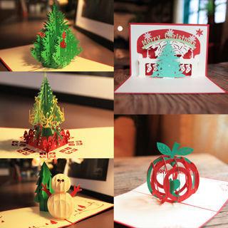 3D Pop Up Birthday Christmas Handmade Greeting Cards