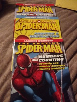 Three New Spider-Man Learning Workbooks