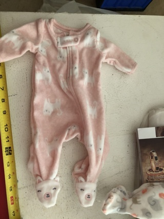 Two Preemie Baby Pajamas
