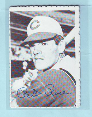 1969 Topps Deckle Edge Pete Rose Baseball Card # 21 of 33 Reds