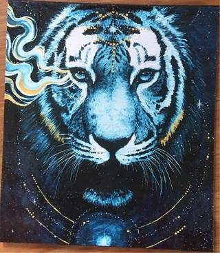 "ELECTRIC BLUE TIGER - 3 x 4"" MAGNET"