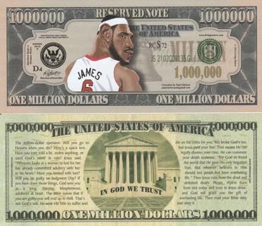Free: Rare Lebron James Million Dollar Bill Tract