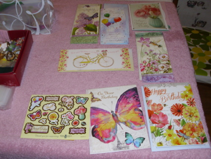 9 Beautiful Boys town Happy Birthday Cards with stickers