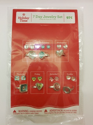 Christmas Earrings & Rings Set