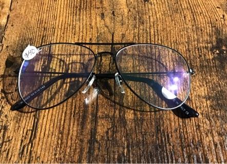 Black Clear Aviator New Unisex Men's Women's Clear Glasses Sunglasses