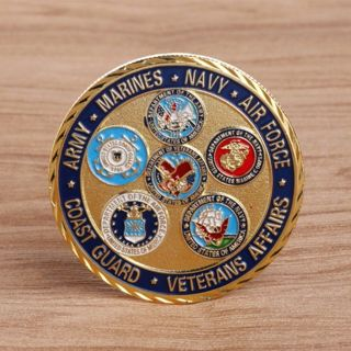 [GIN FOR FREE SHIPPING] Golden Five Marine Guard American Army Commemorative Coin