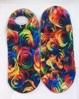 All Over Rainbow Rose no show Socks.