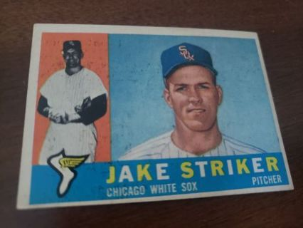 1961 Jake Striker Chicago White Sox vintage baseball card