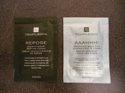 Lot of 2 packets of TempleSpa products to spoil yourself - Free US shipping!