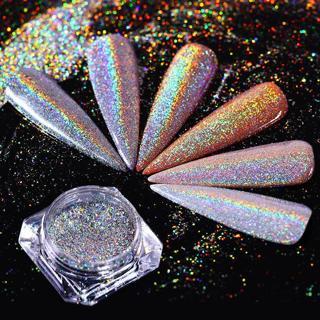 Rainbow Holographic Laser Powder Nail Pigment Super Shine Dust Born Pretty 0.5g
