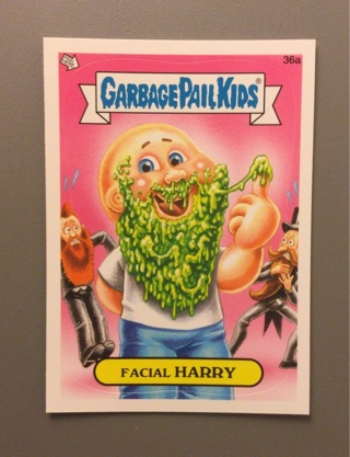 2012 Topps Garbage Pail Kids Sticker Card #36a • FACIAL HARRY • See Photos