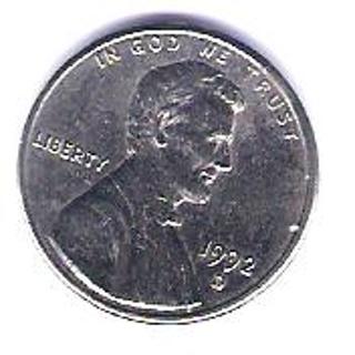 FREE RARE 1992 D Silver Lincoln Penny Mint Error No Copper Plating
