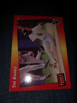 Baseball card - Tim Raines 1992