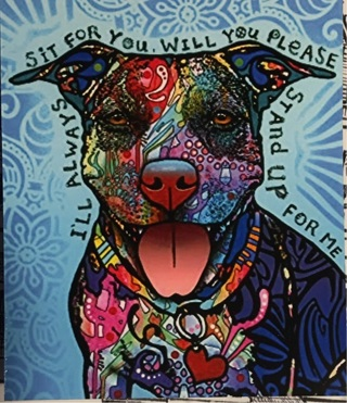 """I'LL SIT FOR YOU! cute dog - 4 x 3"""" MAGNET"""