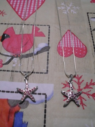 Pair of StarFish Necklaces