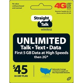 ^Straight Talk Unlimited $45 Text, Talk and Web Access 30-Day Service FAST! Message delivery.