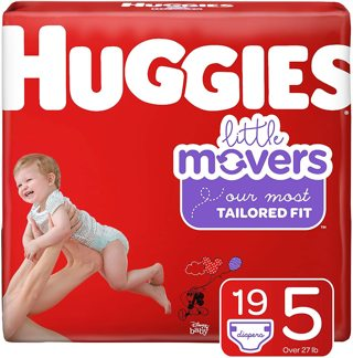 Huggies Little Movers Baby Diapers Size 5 (19 Count)