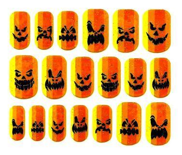 HALLOWEEN NAIL ART PEEL AND STICK 19 COUNT  DAMAGED
