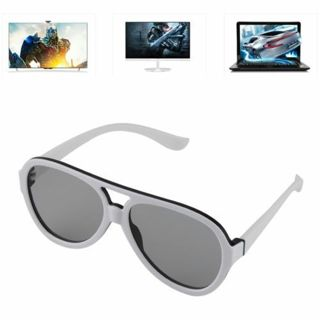 Hot Passive 3D Glasses with Polarized Plastic Lenses for TV Cinema Movie XP