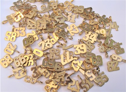 Approx (86) 14KGB Charms Numbers