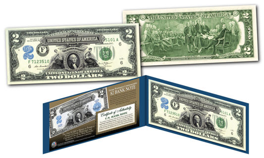 1899 George Washington Two-Dollar Silver Certificate Hybrid New Modern $2 bill