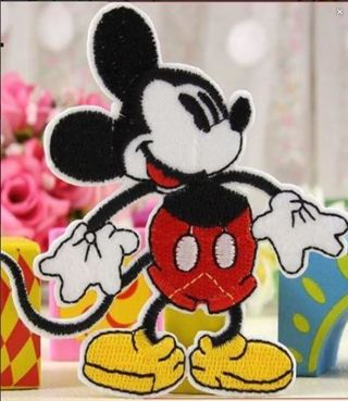 NEW Mickey Mouse Patch IRON ON Patch Clothing accessories Embroidery Applique Badge FREE SHIPPING