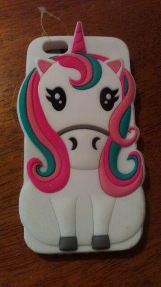 IPhone 5 3D unicorn soft silicone case