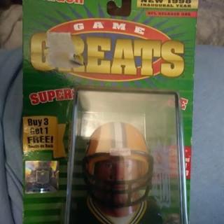 1998 Game Greats Riddell brett favre Superstar Collectible Mini Helm
